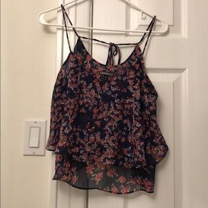 Express Floral Tie Back Tank